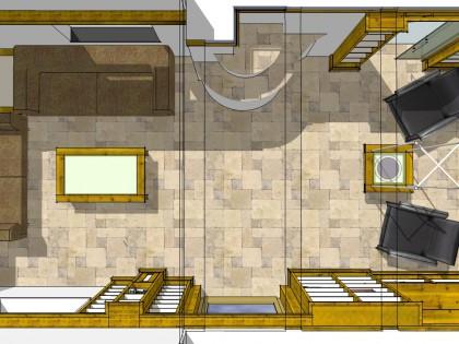 Perspektive Innenausbau Wohnzimmer – zweite Ansicht