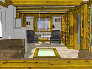 Perspektive Innenausbau Wohnzimmer