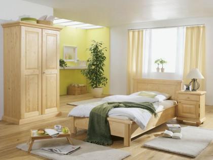 Hotel – Einzelzimmer FIRENZE in Fichte massiv. Einzelbett 90 X 200 cm