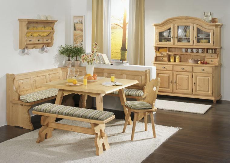 eckbankgruppe f ssen in fichte massiv mit sitzpolster. Black Bedroom Furniture Sets. Home Design Ideas