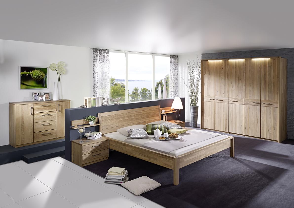 Schlafzimmer LEONARDO in Wildeiche lackiert | Möbel Finsterwalder
