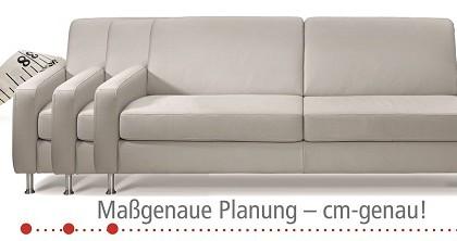 Unsere Polstermöbel werden maßgenau nach Ihren Wünschen gefertigt. Verschiedene Sitzhöhen sind ebenso möglich.