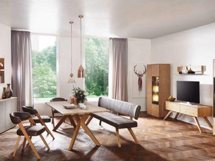 Esszimmer SELECTO in Wildeiche mit Korpusmöbel und Ladenelement SE05